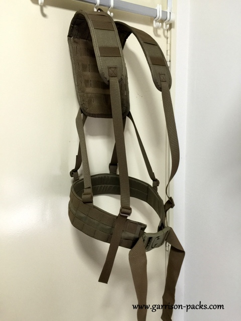Load bearing harness with survival pouch - Garrison Packs