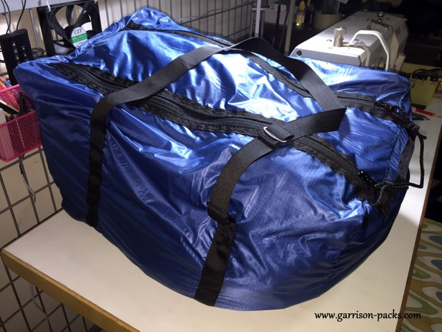 We used military grade webbing and buckles on the duffel bag