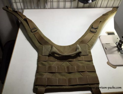 Shoulder harness for custom version of Kifaru Scout