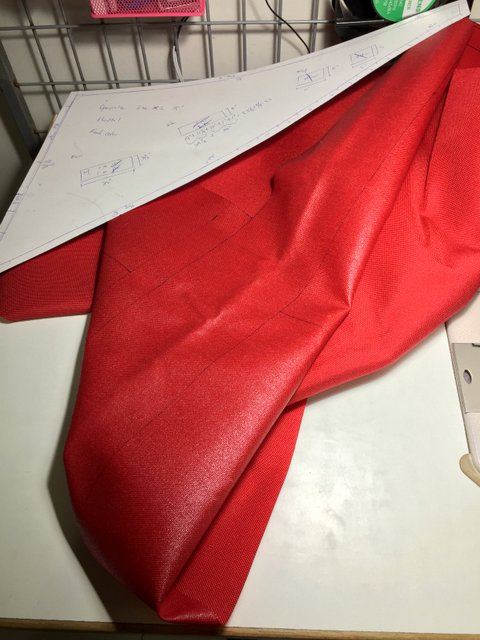 You know it is custom made when you can see drawing lines on the fabric!