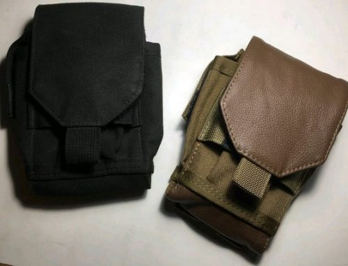 The classic cordura & leather EDC pouch