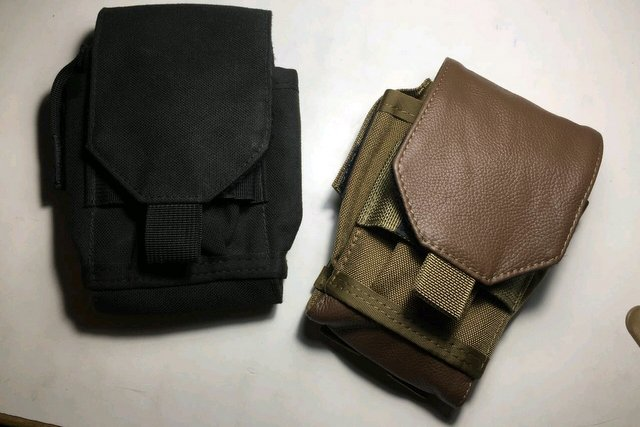 Full cordura vs leather-cordura EDC pouch by Garrison Packs