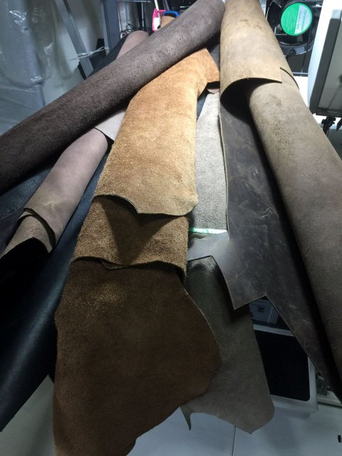 Our stash of leather rolls