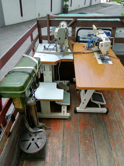 Moving sewing machines to new workshop